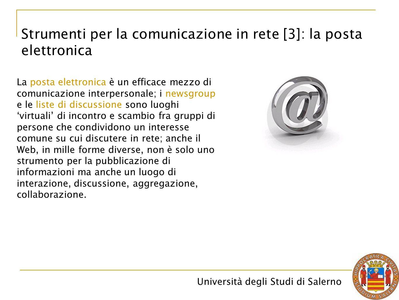 Strumenti per la comunicazione in rete [3]: la posta elettronica